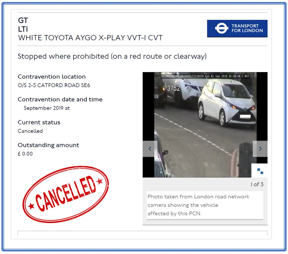 tfl penalty charge